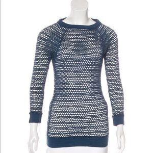 Isabel Marant Navy Blue Fishnet Sweater 1 US Small